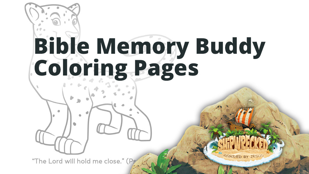 Bible memory buddy coloring pages group vbs tools